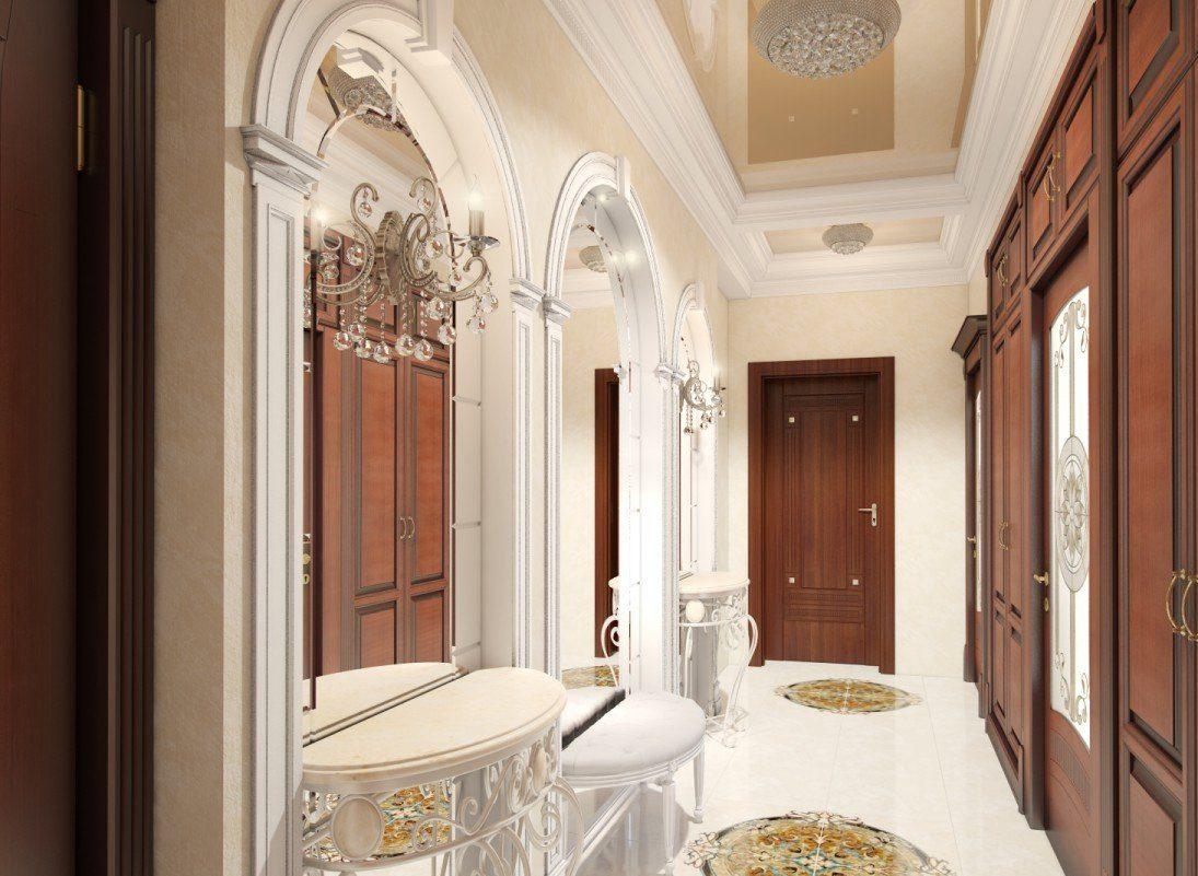 светлая коридор в классическом стиле стиль