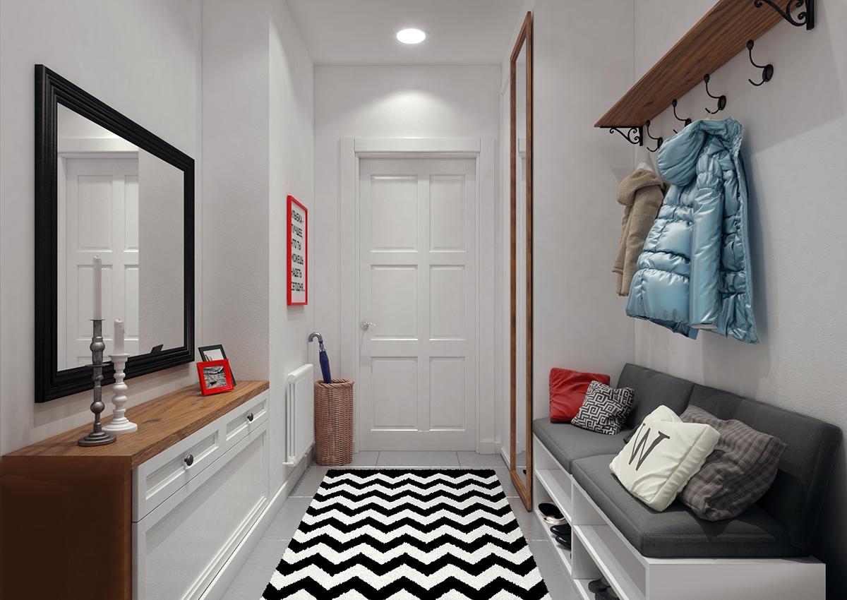красивая проходная комната в сканденавском стиле
