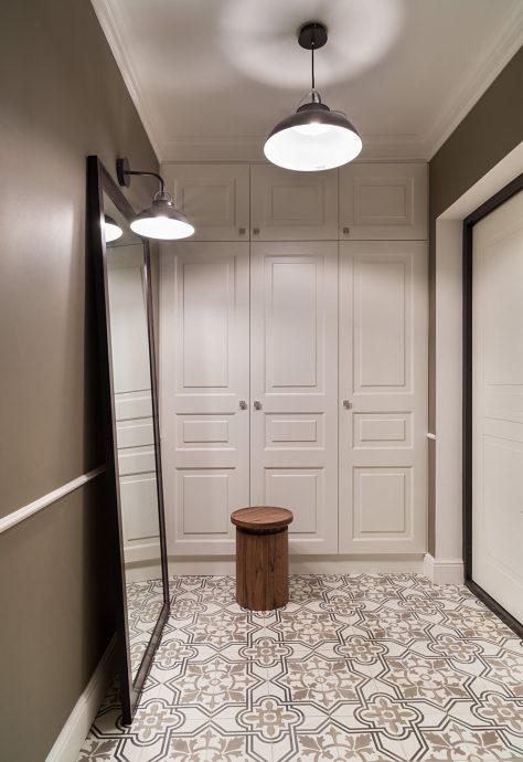 красивая проходная комната в скандинавском картинка