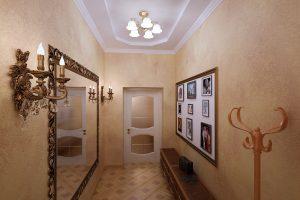 дизайнерская коридор в классическом стиле дизайн картинка