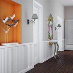 светлая проходная комната в скандинавском дизайне картинка