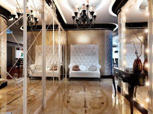 дизайнерская прихожая комната в классическом стиле картинка