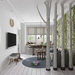 шикарная коридор в скандинавском дизайне фото