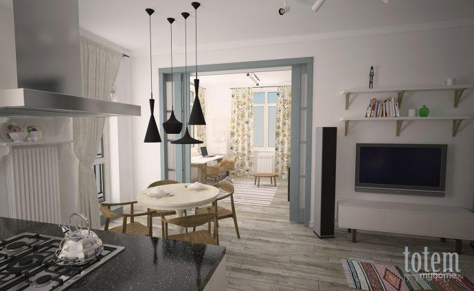 красивая коридор в скандинавском фото