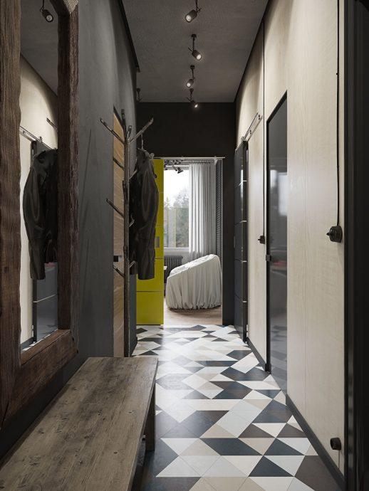 светлая прихожая комната в скандинавском дизайне фото