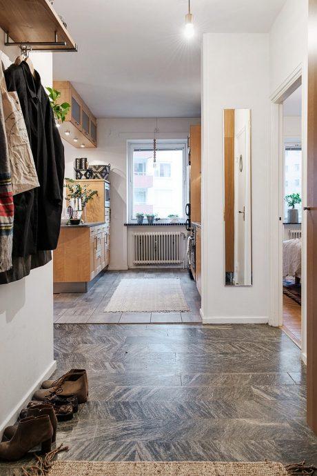 яркая коридор в скандинавском стиле картинка