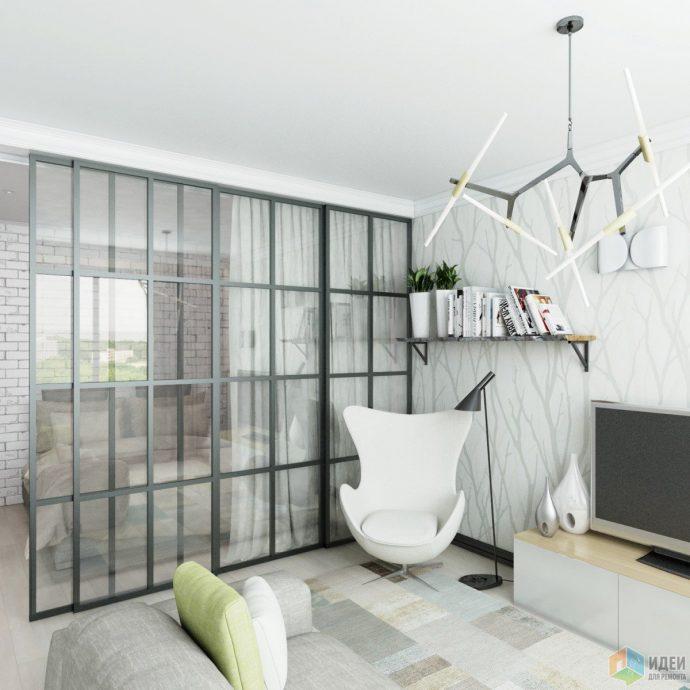 светлая проходная комната в скандинавском стиле фото