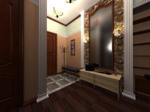 яркая коридор в классическом стиле интерьер фото