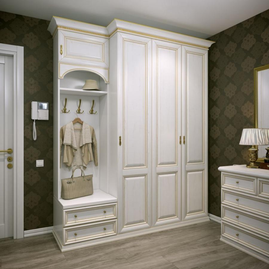 дизайнерская прихожая комната в классическом стиле интерьер