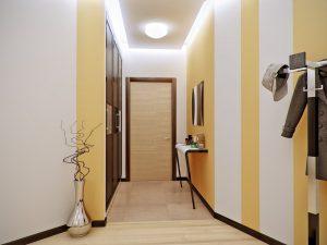темные обои в прихожую комнату в стиле ретро под темную дверь фото