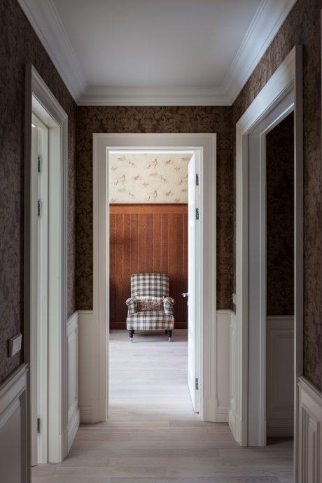 интересный дизайн коридор с узким коридором