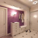 яркий дизайн прихожей комнаты эконом класса фото