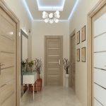 яркий дизайн проходной с маленьким коридором фото