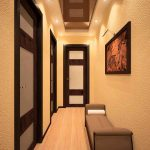 красивый дизайн коридора с отделкой фактурной штукатуркой