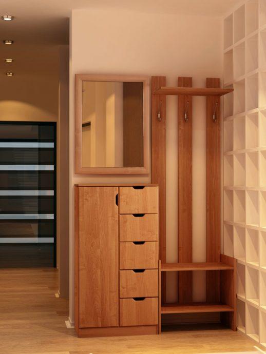красивый стиль прихожей с маленьким коридором фото