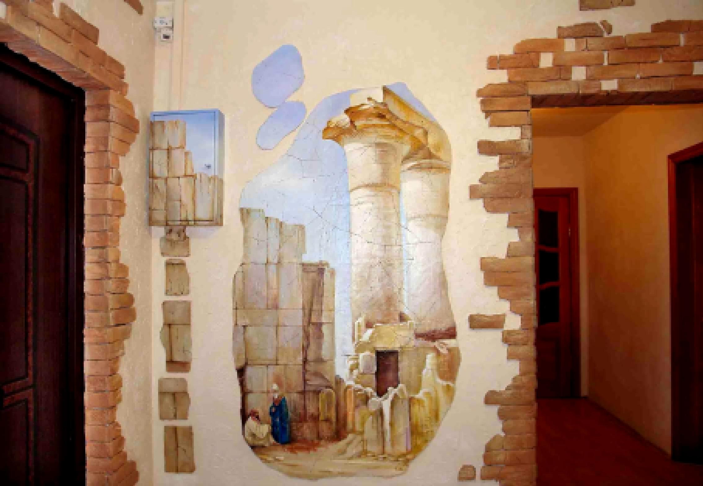 Декор стен камнем своими руками