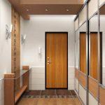 светлый стиль коридора с маленьким коридором картинка