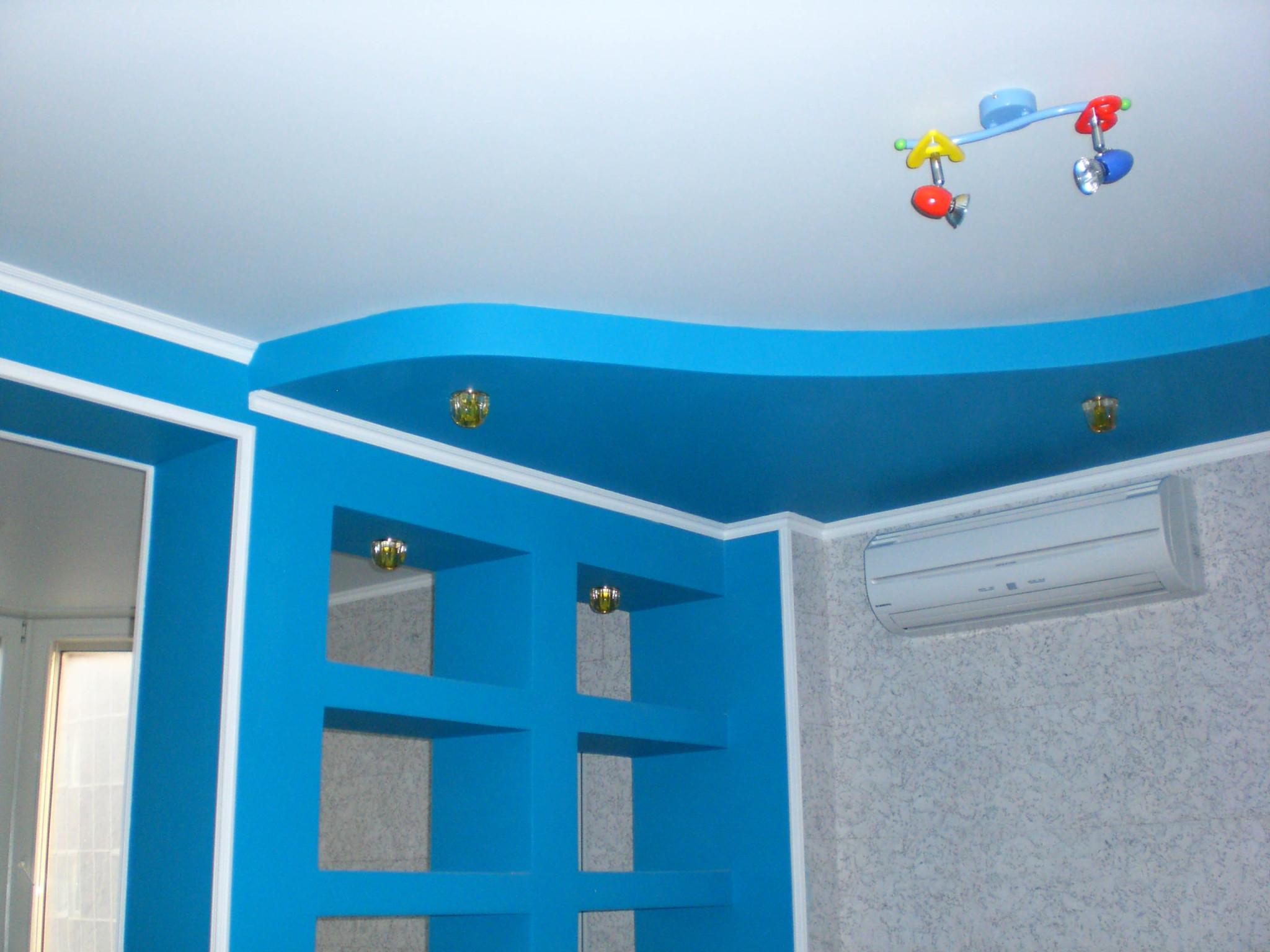Дизайн потолков для детской из гипсокартона