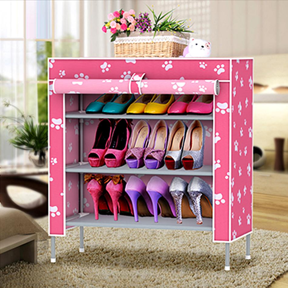 яркая обувница из мдф в прихожую комнату