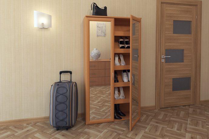 узкая шкафчик для обуви из мдф в прихожую комнату стиль