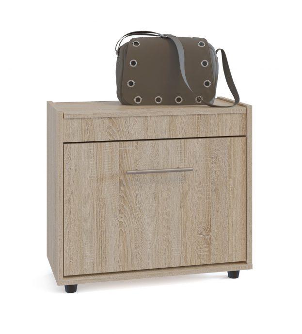 узкая шкафчик для обуви из дерева в коридор интерьер