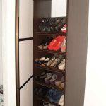 яркая тумба для обуви из мдф в прихожую комнату дизайн
