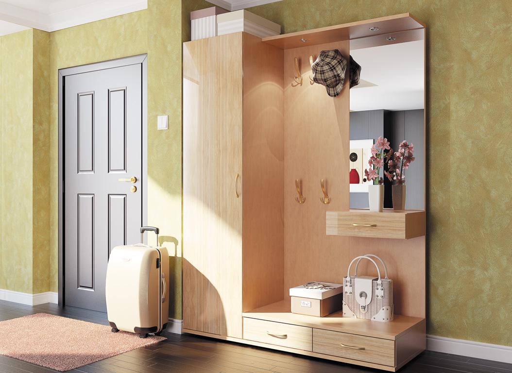 шкаф в проходную комнату из массива дерева