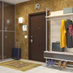 шкаф с зеркалом в проходную комнату из массива дерева фото