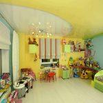 красивый потолок из натяжной ткани в детской фото