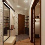 коридор с фактурной штукатуркой и полуматовой стенкой картинка
