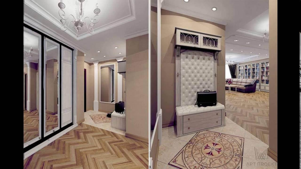 проходная комната с стеклообями и полуглянцевой стенкой