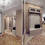 коридор с стеклообями и полуматовой стенкой картинка