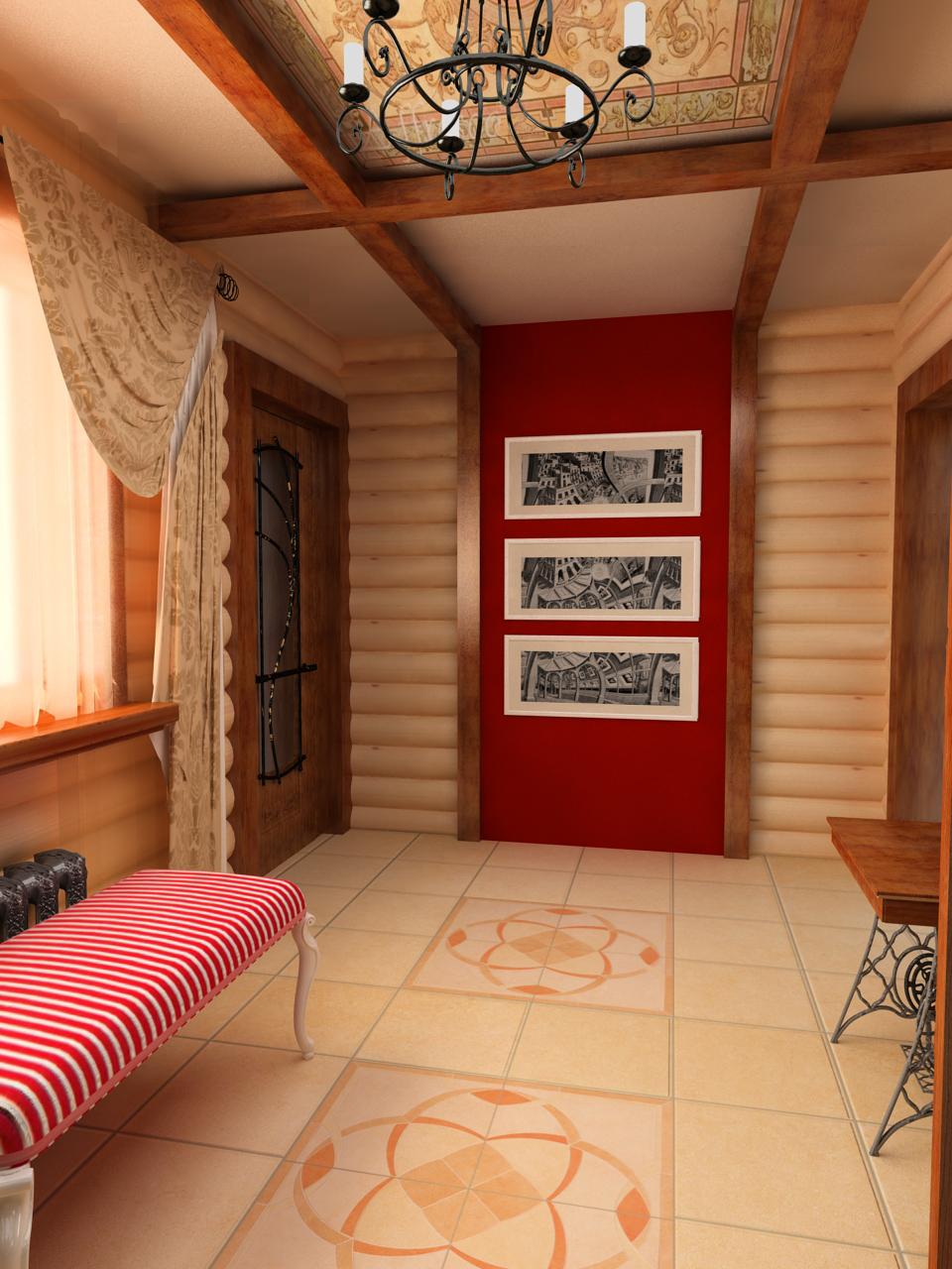 яркая коридор в доме