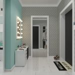 стеклотканевые обои в коридор интерьер картинка