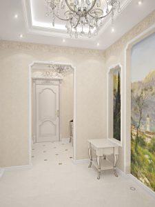 дизайнерская коридор в классическом стиле стиль фото