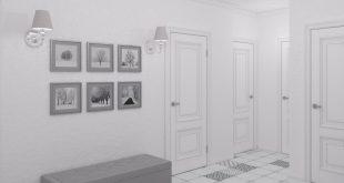 красивая коридор в скандинавском дизайне фото