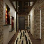 светлая отделка прихожей комнаты обои картинки
