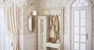 красивая прихожая комната в классическом стиле дизайн картинка