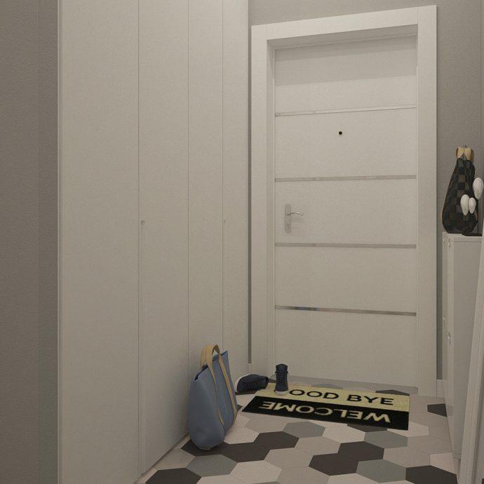 красивая прихожая комната в скандинавском фото