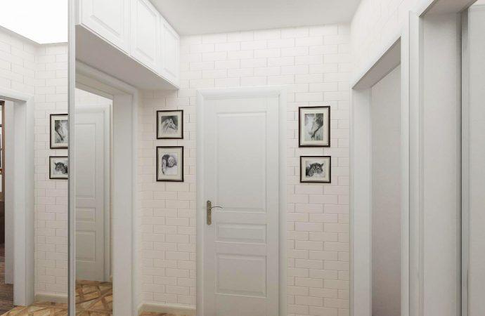 светлая коридор в скандинавском стиле картинка