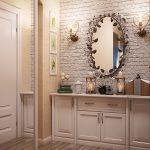 яркая прихожая комната в дизайне прованс фото