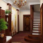 яркая проходная комната в частном доме картинка