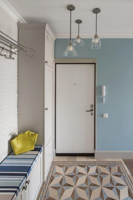 светлая проходная комната в скандинавском дизайне фото