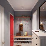 красивая проходная комната в скандинавском дизайне картинка
