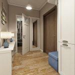 красивая проходная комната в стиле прованс картинка
