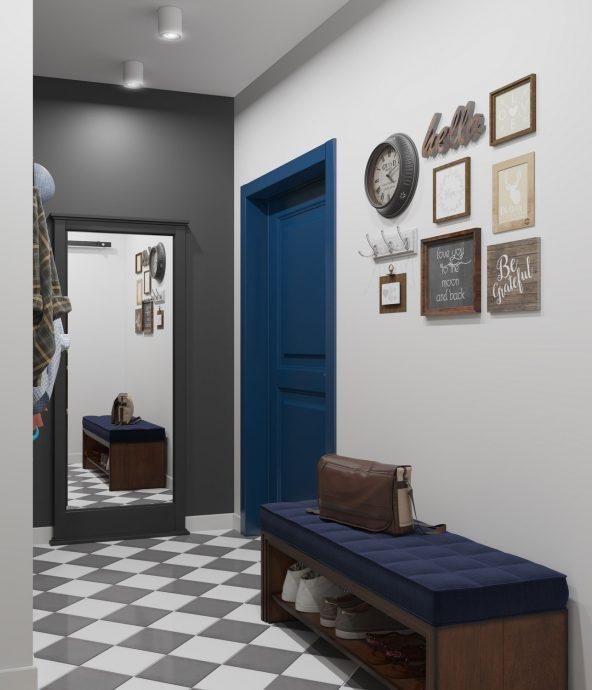 яркая проходная комната в скандинавском стиле картинка