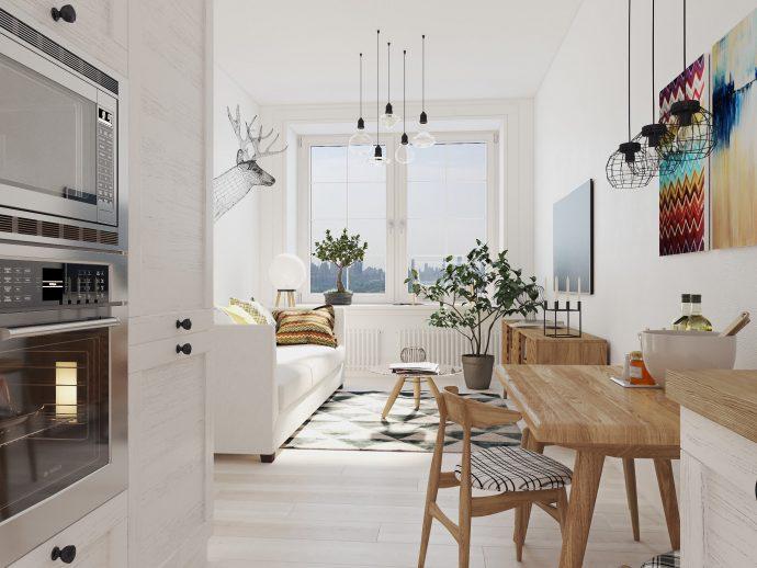 светлая прихожая в скандинавском дизайне фото