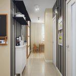 темные обои в проходную комнату в стиле эко под темную дверь картинка