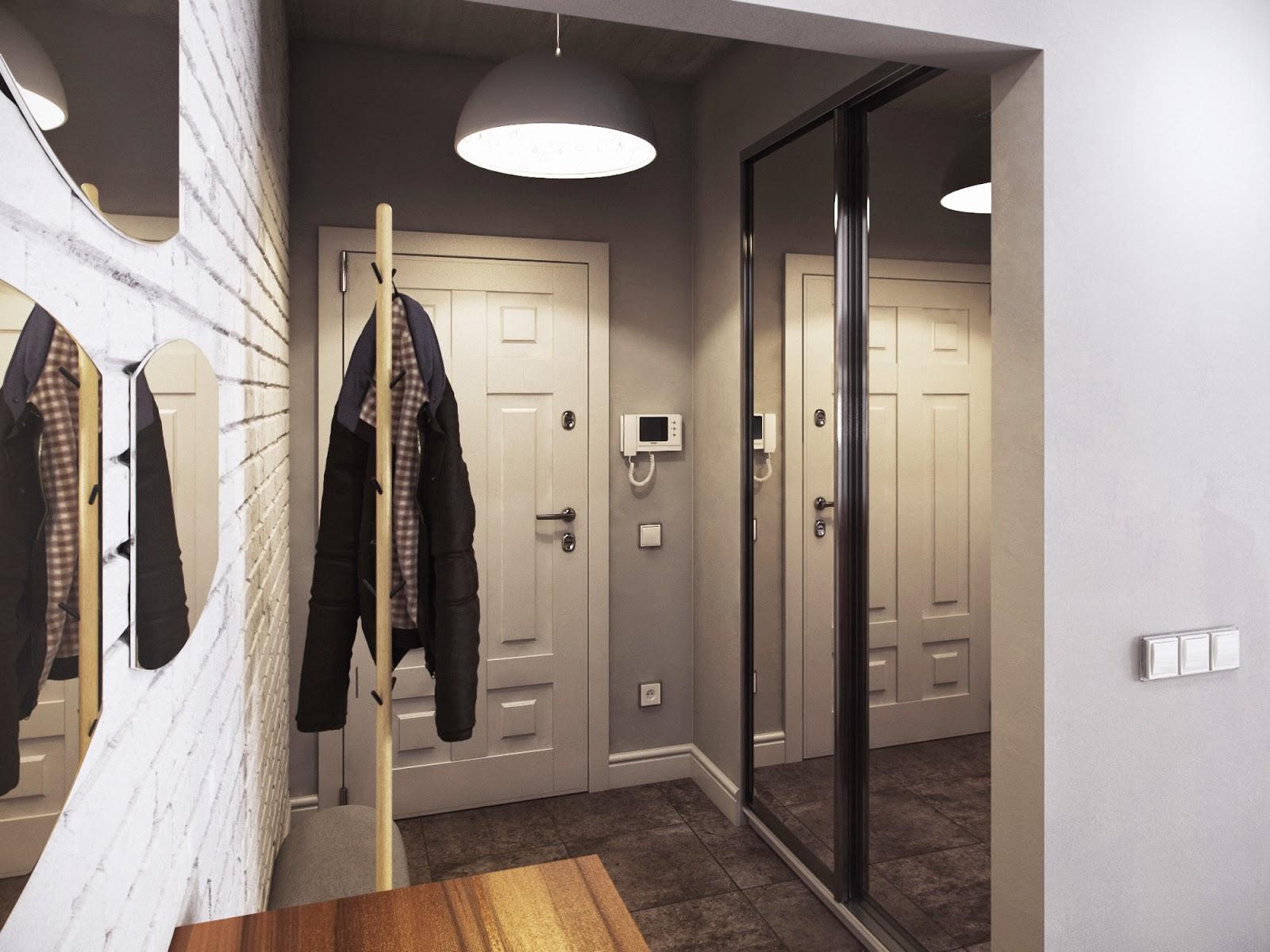 светлые обои в прихожую комнату в стиле модерн