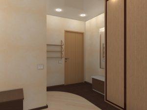 красивые обои в прихожую комнату в стиле ретро под темную дверь фото